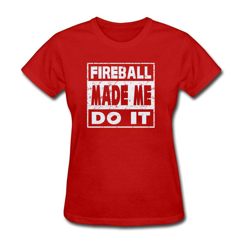 Cotton T Shirt Printed T Shirt Crew Neck Short-Sleeve Compression Fireball Made Me Do It Tee T Shirts For Women