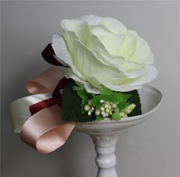 SPR Silk Wedding Corsage&boutonniere for Groom or Groomsmen , Artificial Rose Bud , Decorative Flowers Corsage For Men Prom