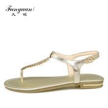 2017 Fanyuan woman fashion Genuine sandals Rhinestone Crosses Skull Rome flip flops women flats for women flat slippers ladies