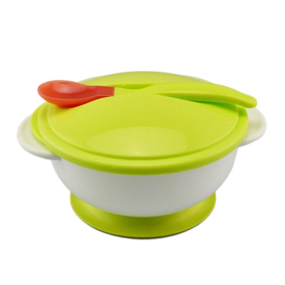 Детские присоски чаши ложка набор одежда для малышей Кормление едят Еда Нескользящие двуручный присоски чаши + ложка