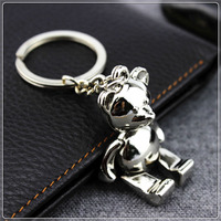 Creative Bear car keychain pendant zinc alloy metal