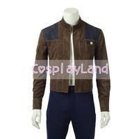 Han Solo Jacket Halloween Costumes Cosplay Solo A Star Wars Story Han Solo Jacket Superhero Costume Custom Made Unisex Coat Tops