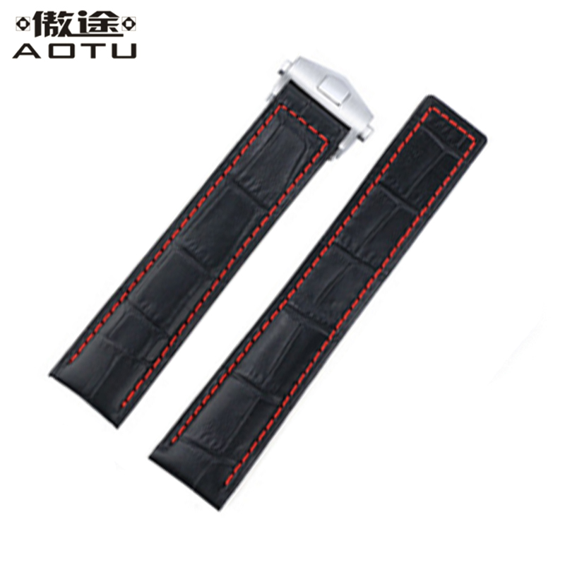 20MM 22MM Genuine Leather Watchbands For TAG HEUER Carrera Heritage Men Watch Straps Women Leather Watch Band Ladies Watch Belt цена и фото