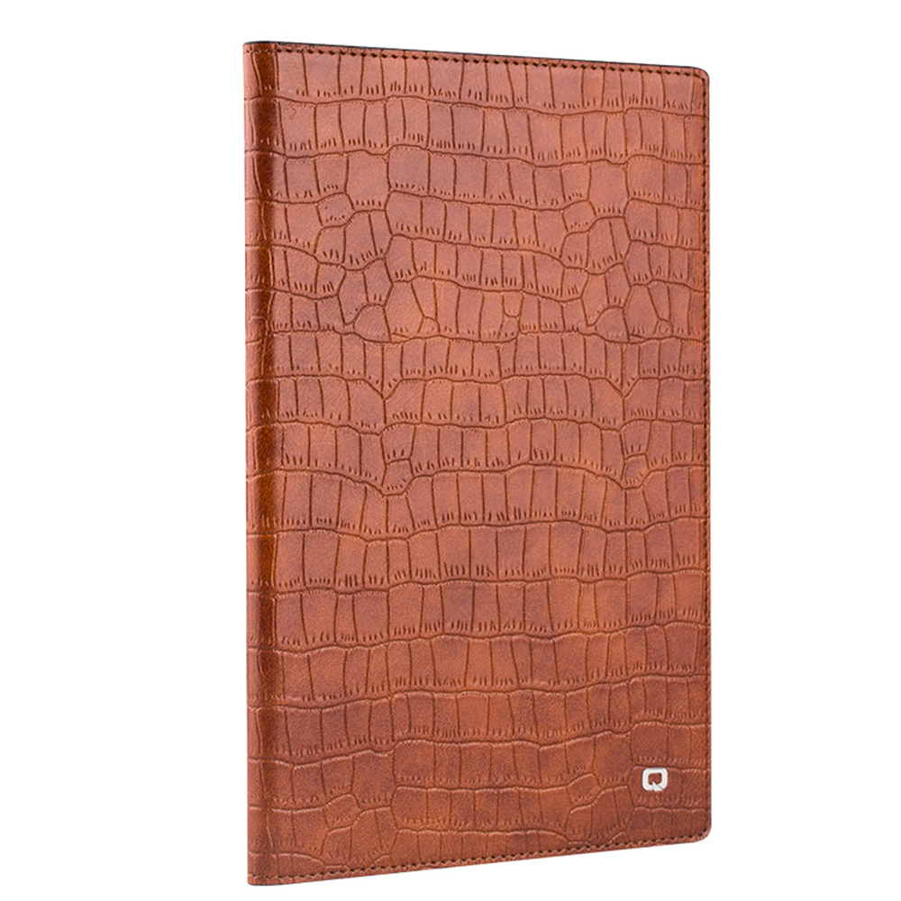 цена на QIALINO Genuine Leather Cover Bag smart stand flip Case for iPad mini 4 Flip Stents Automatic wake up sleep function Case