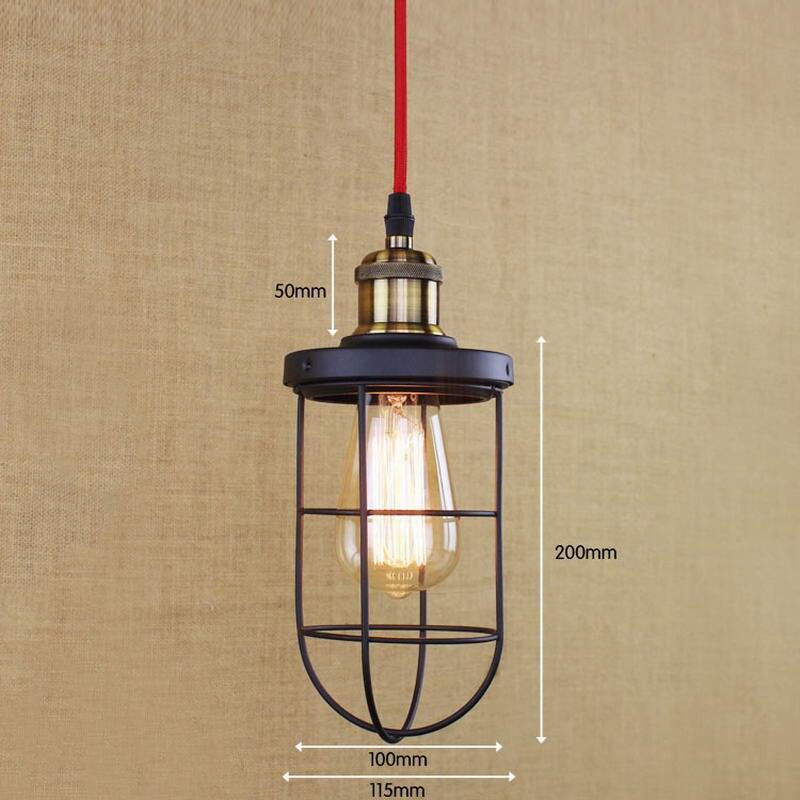 Лофт Промышленные черный ретро металлической проволоки подвесной светильник/Edison простой лампы для Освещение для кухни гостиная/столовая/к...