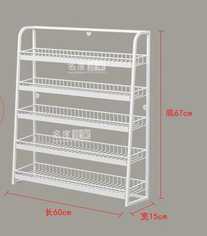 Shelf, Convenience Store, Cashier, Unpacking, Five-layer Small Shelf, Gum Display Rack, White And Gray Display Rack.