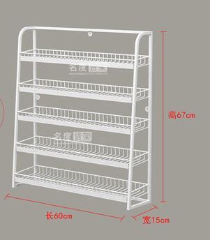 Shelf, convenience store, cashier, unpacking, five-layer small shelf, gum display rack, white and gray display rack.