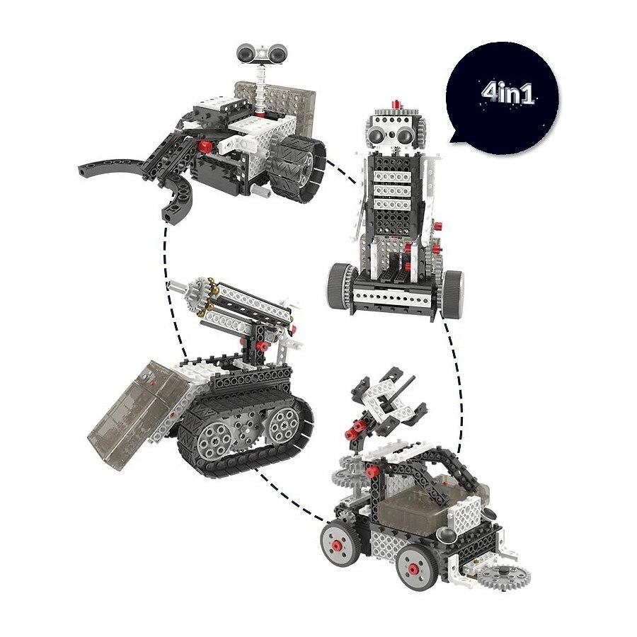 Bricolage 4-en-1 jeu de Construction RC contrôle robotisé Vechicles Robots d'exploration spatiale motorisés tige éducatifs blocs d'apprentissage kit - 2