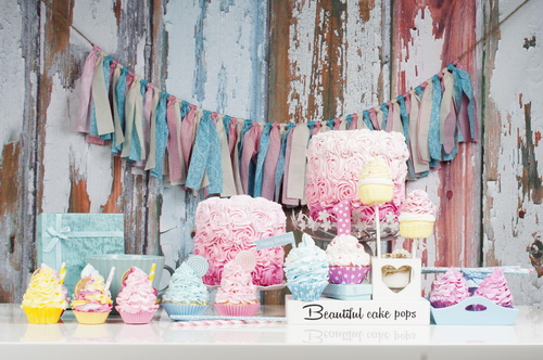 Cake and icecream for kids photo props washable fleece photography backdrops for studio photography backgrounds HG-401-A