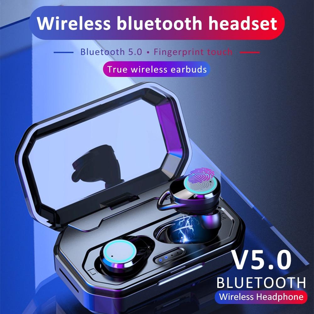 JBCO Ture écouteurs sans fil Bluetooth 5.0 casque avec micro Mini Bluetooth écouteurs intra-auriculaires sans fil écouteurs sans fil casque