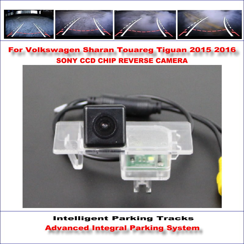 Dynamic Guidance Rear Camera For Volkswagen Sharan Touareg Tiguan 2015~2016 580 TV Lines HD 860 * 576 Parking Intelligentized коврик для приборной панели авто bbt tpe xpe volkswagen tiguan r touareg lavida