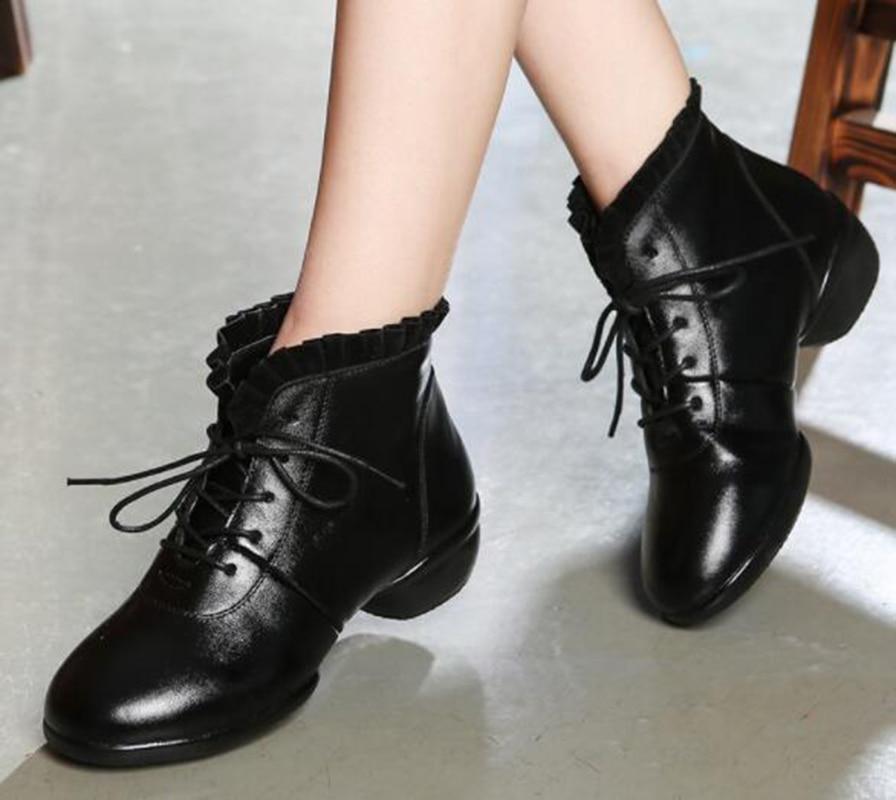 Laciness Personnalité National Moderne Réel red Tige Cuir Vache Black Respirant Chaussures De En Femelle Femme Haute Style Adulte ZU7q66