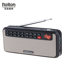 Rolton T60 Portable Radio USB Mini FM Radio Speaker LED Display Subwoofer MP3 Music Player Support TF Card lefon digital fm radio media speaker mp3 music player support tf card usb drive with led screen display and time shutdown