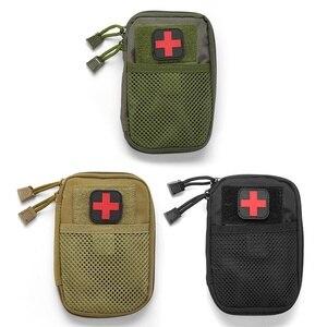 Image 3 - Açık ilk yardım acil çanta ilaç hap kutusu ev araba hayatta kalma kiti Emerge kılıf küçük 900D naylon kese