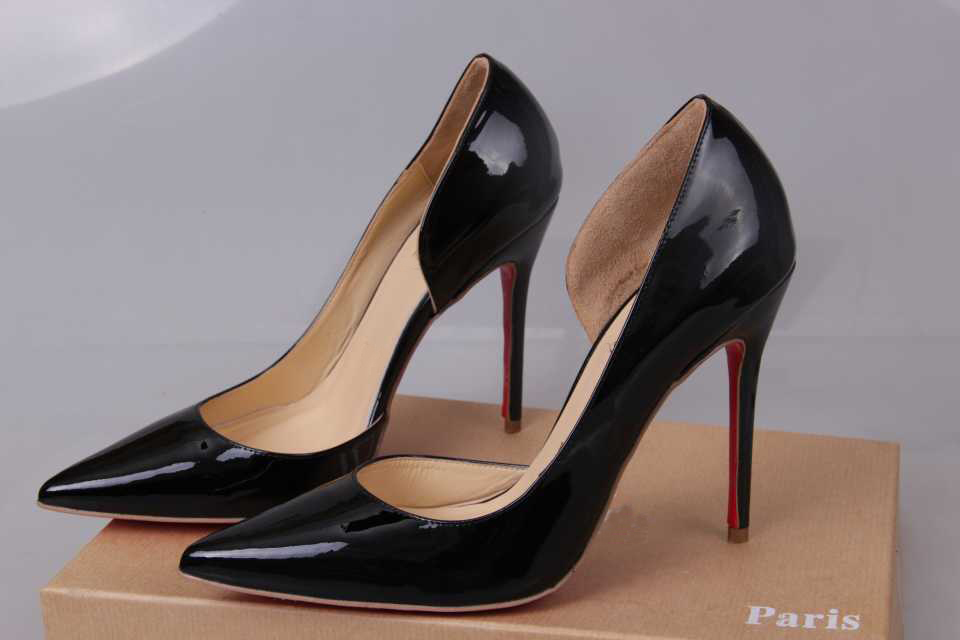 Iriza Cutout Vamp Patent Leather 10CM Red Sole High Heels Shoes Woman Pumps  2015-in Women s Pumps from Shoes on Aliexpress.com  9afcc4819200