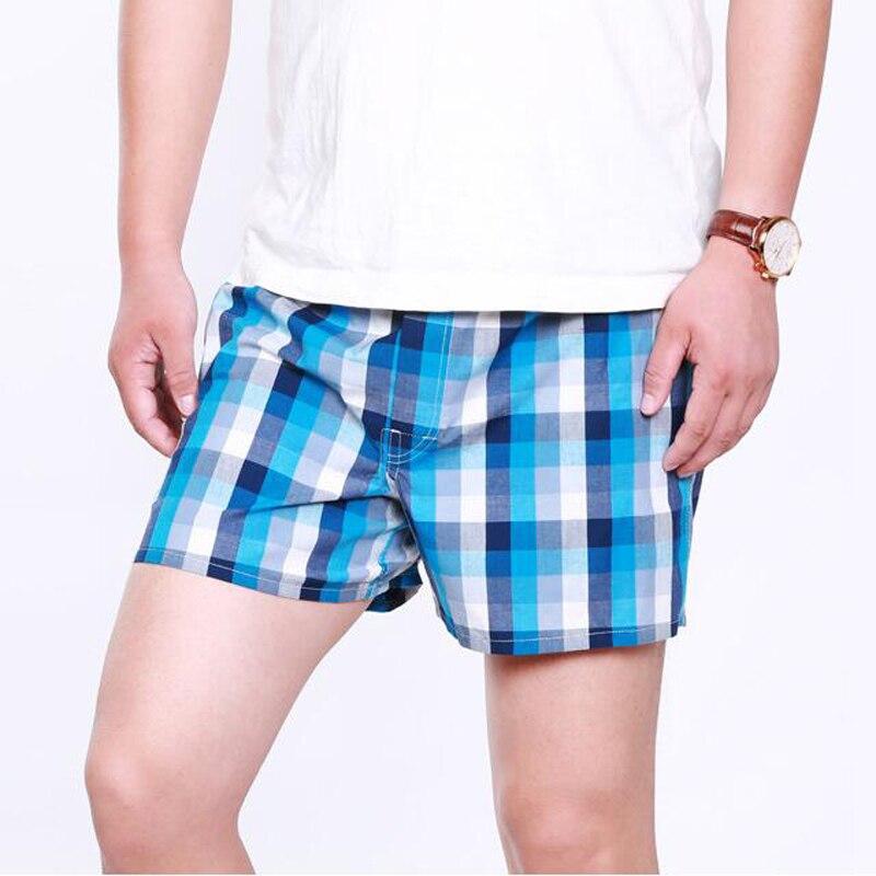 Image 3 - Panties Mens Boxer Men Underwear Cotton Man Shorts Breathable Plaid Flexible Shorts Boxer 5Pcs/lot Male Underpants 5XL 6XL-in Boxers from Underwear & Sleepwears