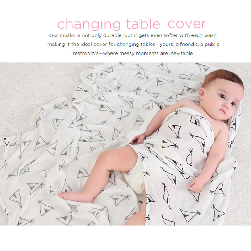 100% Mousseline Katoen Wraps Voor Newbron Baby Dekens Beddengoed - Beddegoed - Foto 4