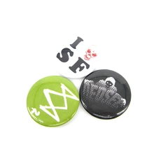 New Arrival Watch Dogs 2 Pin BUTTONS Badges Brooches School Bag Badge Game Collection Great Gift For Women and Men fans