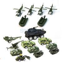 Sand Table Mini Military Base Scene Building Toy Soldier Action Figure Airplane Car Tank Tent Model