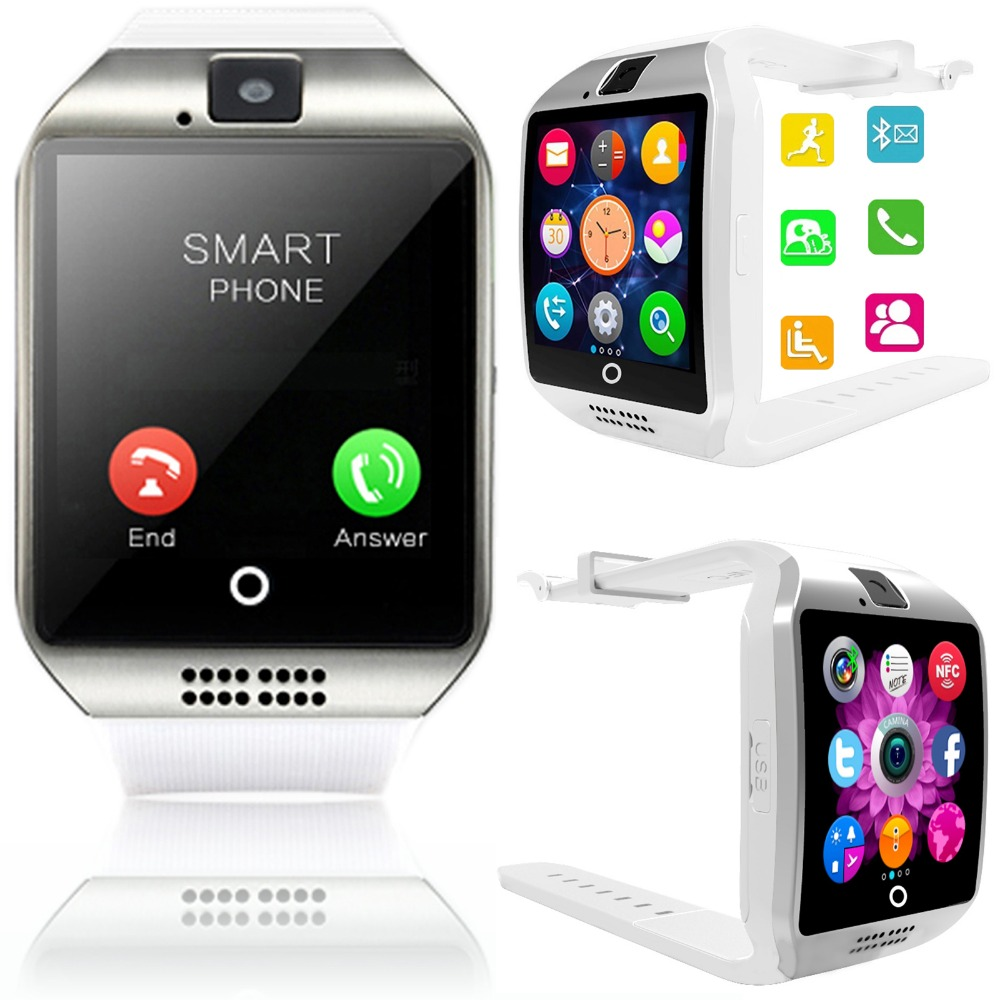 nfc smart watch screen touch bluetooth phone support tf sim card for iphone android samsung lg. Black Bedroom Furniture Sets. Home Design Ideas