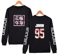 New Fashion BTS Long Sleeve Sweatshirt Women Brand Black O Neck Casual Harajuku Sweatshirt Women Young