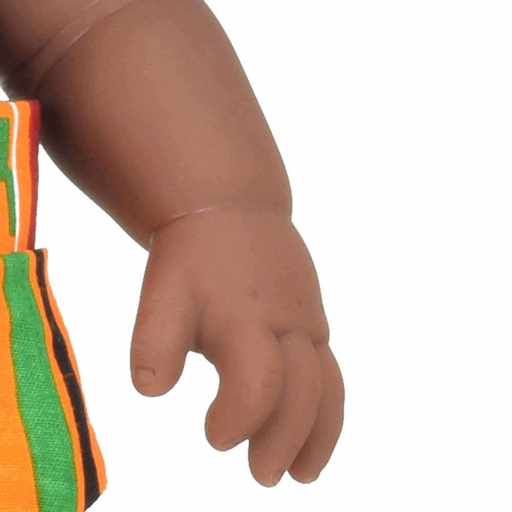 Afrp haar mädchen! Schwarz baby puppe reborn mädchen 12 zoll boneca corpo inteiro de silikon reborn baby puppen pop lebensechte silikon