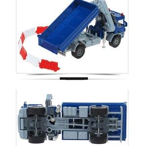 Image 4 - KDW odlew ze stopu żuraw Model ciężarówki 1:50 żuraw teleskopowy wywrotki nogi podporowa automat z zabawkami Model pojazdu kolekcja dla dzieci samochód zabawka