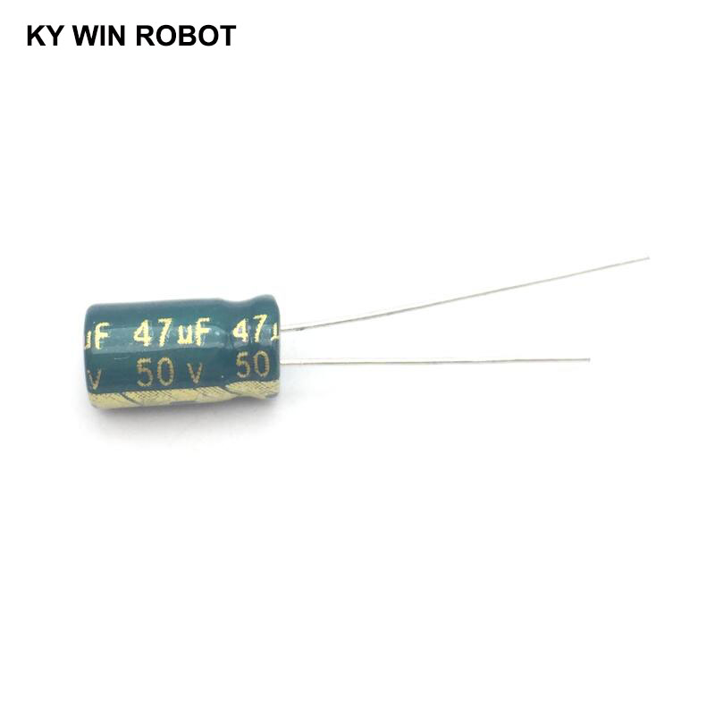 50pcs/lot 50V 47UF 6x12mm High Frequency Low Impedance Aluminum Electrolytic Capacitor 47uf 50v