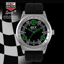 GT RELOJ GT3 Racing Sports Conductor Moda Correa del Silicón Del Cuarzo de Japón del Reloj de Los Hombres Militares Reloj Estilo Compus