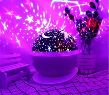 Star Projector USB Battery Type Creative Rotating Projection Fantastic Multi Color 4 Brightness Master