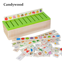 Montessori Knowledge Classification Box Kids Wooden Toys early Learning Educational Toy Matching Category Boxes Baby Learn Toys