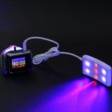 LASPOT способствовать циркуляции крови Новое поступление 2018 года лазерные часы красный лазер светодиодный светодиод десятки Tinnitu часы для диабетиков LLLT CE утвержден