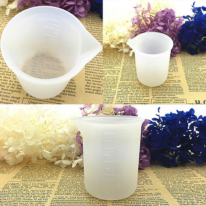 1Pcs Soap Mold Jewelry Measuring Cup Silicone Resin Glue 100ML DIY Handmade Tools Crystal Molds No Wash
