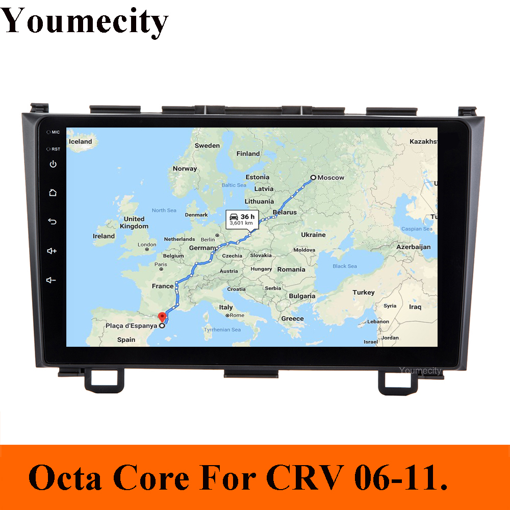 Youmecity Octa Core Car dvd Player For Honda CRV 2006 2011 With 9 Inch IPS Capacitive