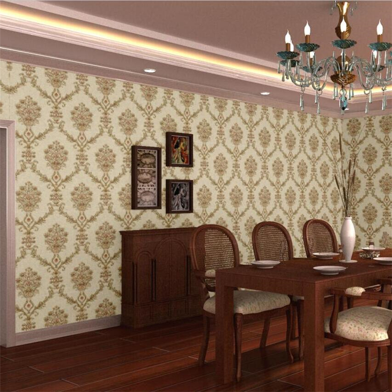 beibehang Upscale European wallpaper 3D Simple European Flower pvc Wallpaper Bedroom Living room TV Background AB Wallpaper beibehang embroidery wallpaper european