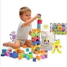 50 pieces large block wooden toys castle buliding big blocks intelligence toys wood child wooden blocks
