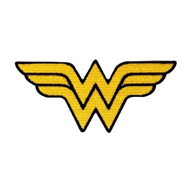 Online Shop Wonder Woman Logo Patch For Clothing Symbol Superhero