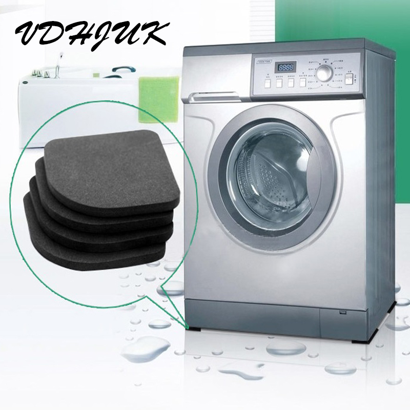 4pcs New Washing Machine Anti Vibration Pad Shock Proof Non Slip Foot Feet Tailorable Mat Refrigerator Floor Furniture Protector