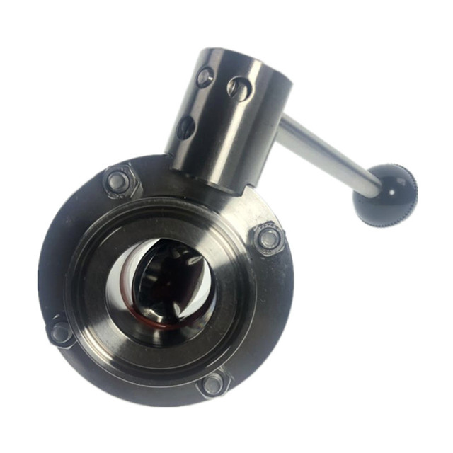 DN25 DN50 Tri Clamp Sanitary Stainless Steel SS304 Butterfly Valve Silicon Seal Pull Handle Home Brew Valve
