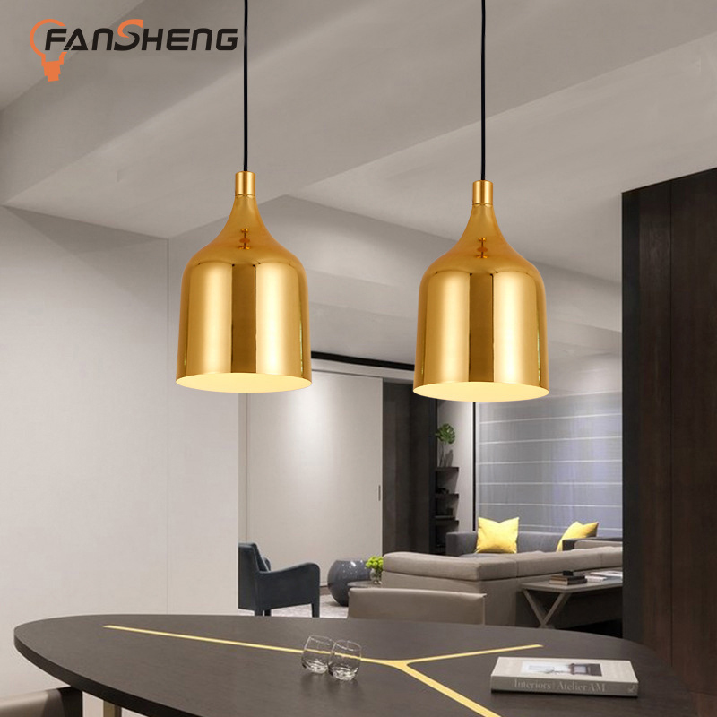 Modern LED pendant chandelier living room bedroom loft hanging lights aluminum shade E27 Art decor home lighting chandeliers