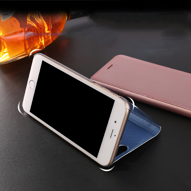 Smart Mirror Flip Phone Case For Samsung Galaxy S9 S8 S7 S6 Edge Plus Clear View Cover For Samsung Galaxy Note 9 8 5 4 3 Case 3