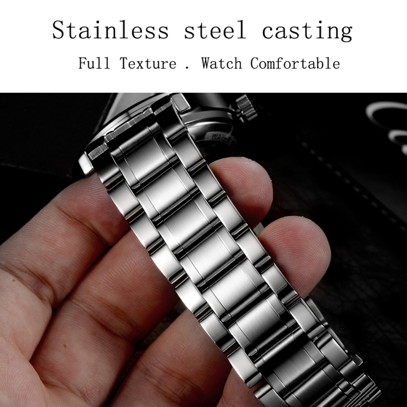 Image 5 - Seiko Automatic Movement Carnival Top Brand Luxury Men Mechanical Watch relogio masculino Clock Stainless Steel Strap Men Watch-in Mechanical Watches from Watches