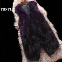 2019 New Arrival Top Brand Fashion Customize Plus Size Multi Color Thick Genuine Real Raccoon Fur Vest Women fur coat WSR211