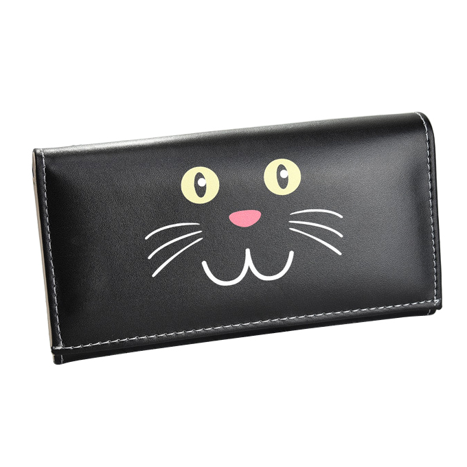 Women Wallets Brand Cartoon Cat Girls Coin Purse Pocket Lady Purses Moneybags Long Clutch Wallet Cards ID Holder Handbags Burse luxary women wallets lady purses cards id holder handbags moneybags long coin purse good quality female casual fold wallet bags