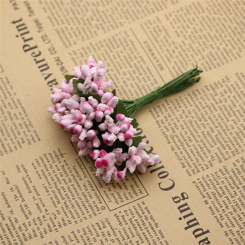 12 Pcs Banyak Pesta Buatan Bunga Benang Sari Kawat Batang Pernikahan Daun Benang  Sari DIY Wreath Pernikahan Kotak Dekorasi Bunga Palsu di Buatan   Bunga ... b89126c2d3