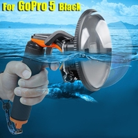 Diving Dome Port Waterproof Housing Case Cover For GoPro Hero 5/6 Camera Trigger