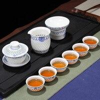 Завод прямых продаж сота подсолнечника чашу (малый) Кунг-Фу чайный сервиз подарочная коробка оптовая