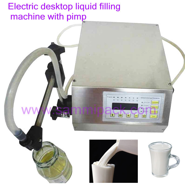 GFK-160 Nice liquid filling machinem,oil filler with pump glf i ii two nozzles pump liquid filler for water oil