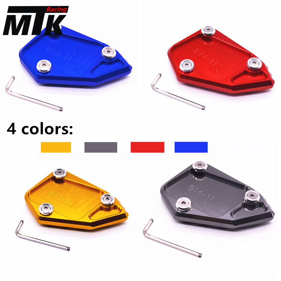 MTKRACING For BMW R1200 GS r1200gs 2008-2012  2008-2012 Motorcycle CNC Aluminum Side Stand Enlarge Extension Plate Pad for bmw f800r 2009 2012 2013 2014 hp2 08 motorcycle cnc aluminum side stand enlarger cnc kickstand pate pad side stand enlarger
