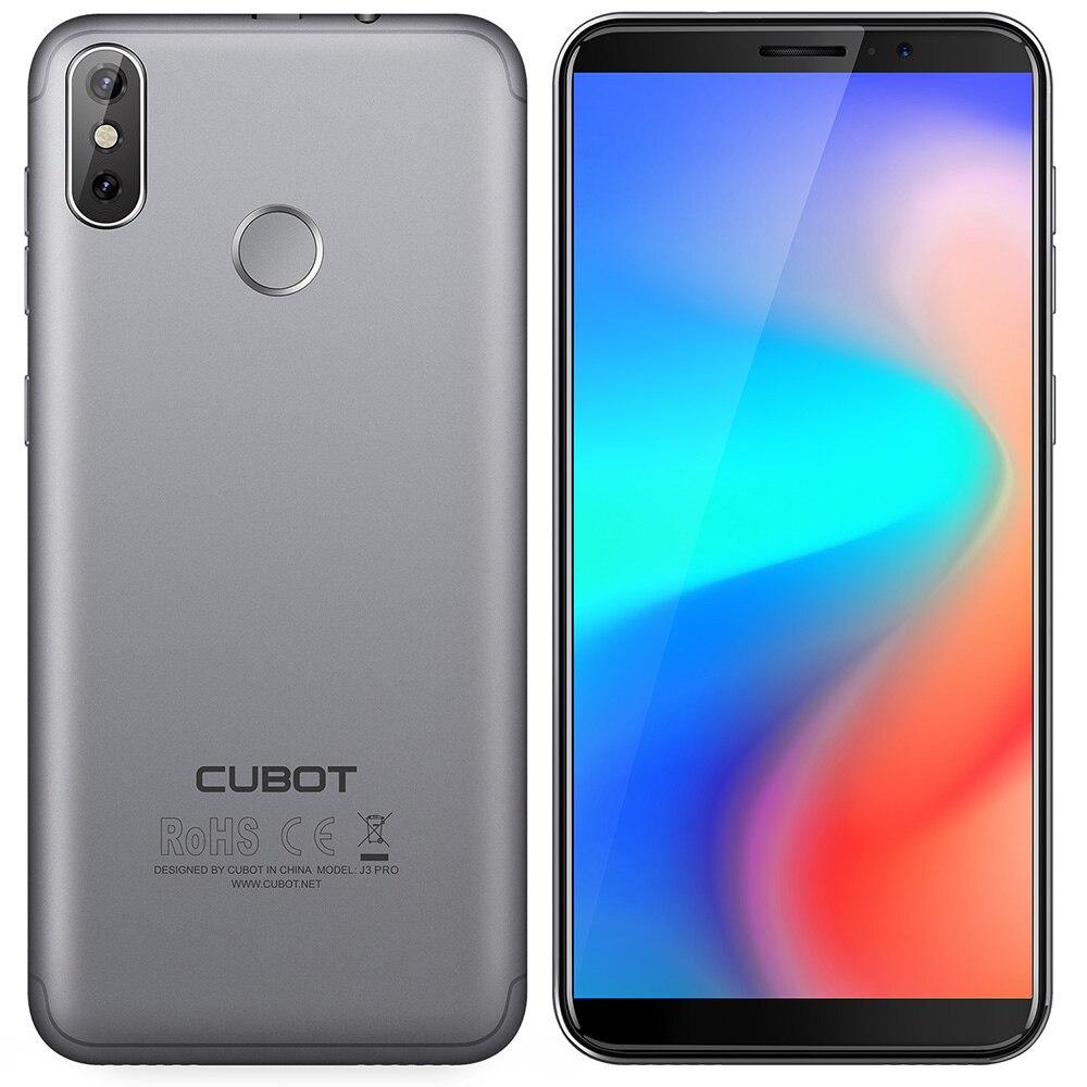 Cubot J3 PRO 4g Smartphone 5.5 Android GO MT6739 Quad-Core 1.5 ghz 1 gb RAM 16 gb ROM 13.0MP + 2.0MP Caméras Arrière Capteur D'empreintes Digitales